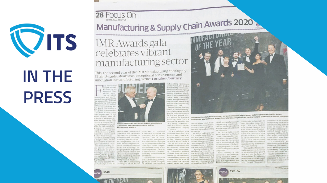 ITS in the press - Sunday Business Post writes about the IMR Awards Gala