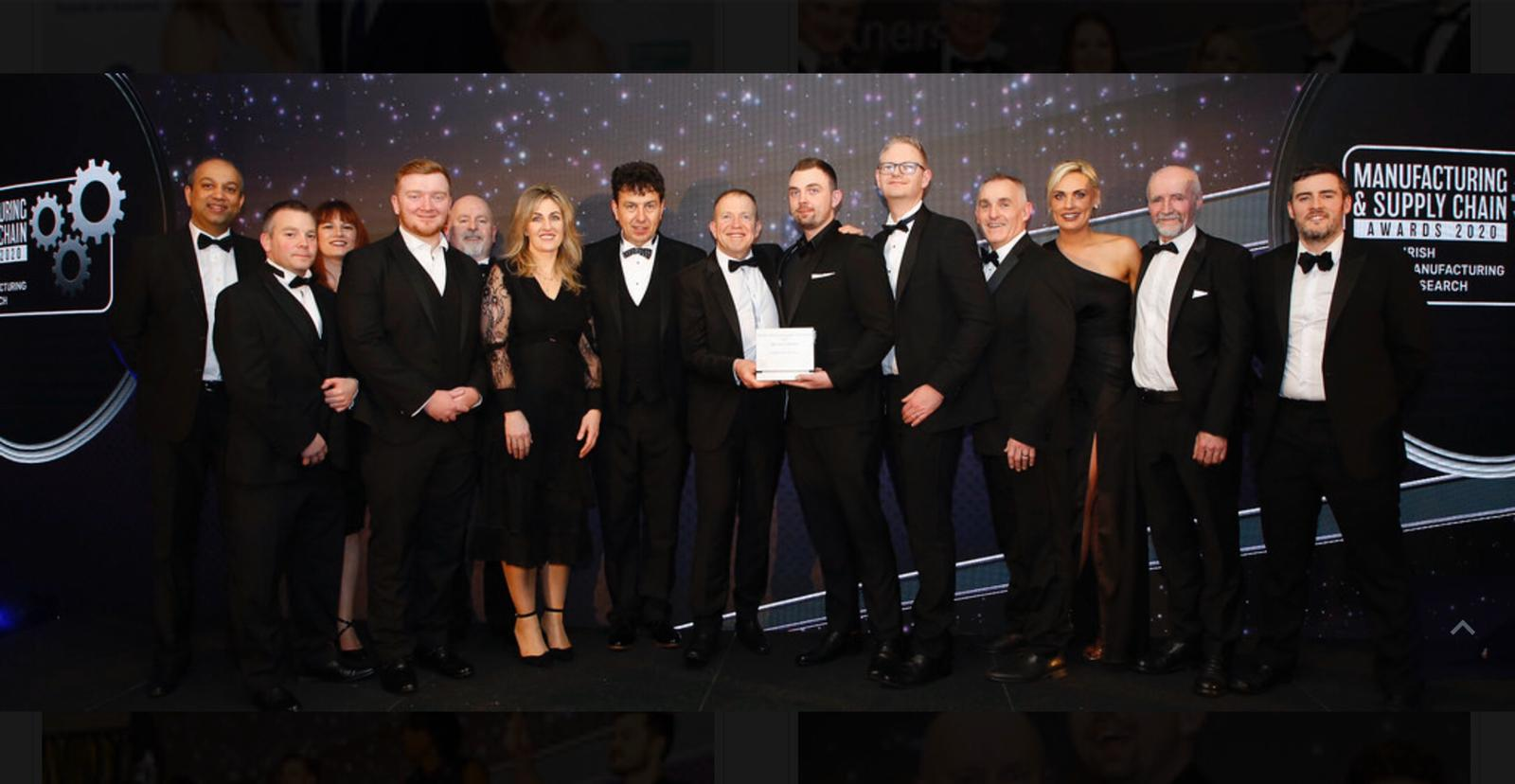 The ITS and Boston Scientific teams - winners of the Best Use of Robotics at the IMR Manufacturing Awards 2020